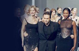 Naomi Campbell, Eva Herzigova e Gai Mattiolo Final Show Milano