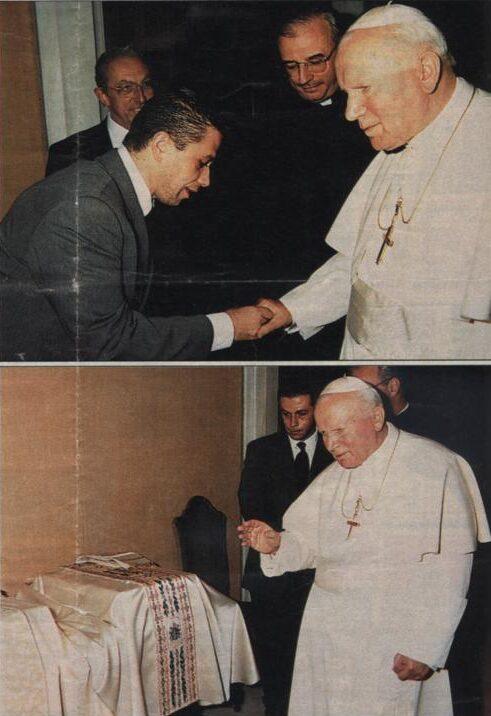 Sua Santità Giovanni Paolo II e Gai Mattiolo