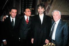 Gai Mattiolo, Andrea Bocelli e Micheal Douglas