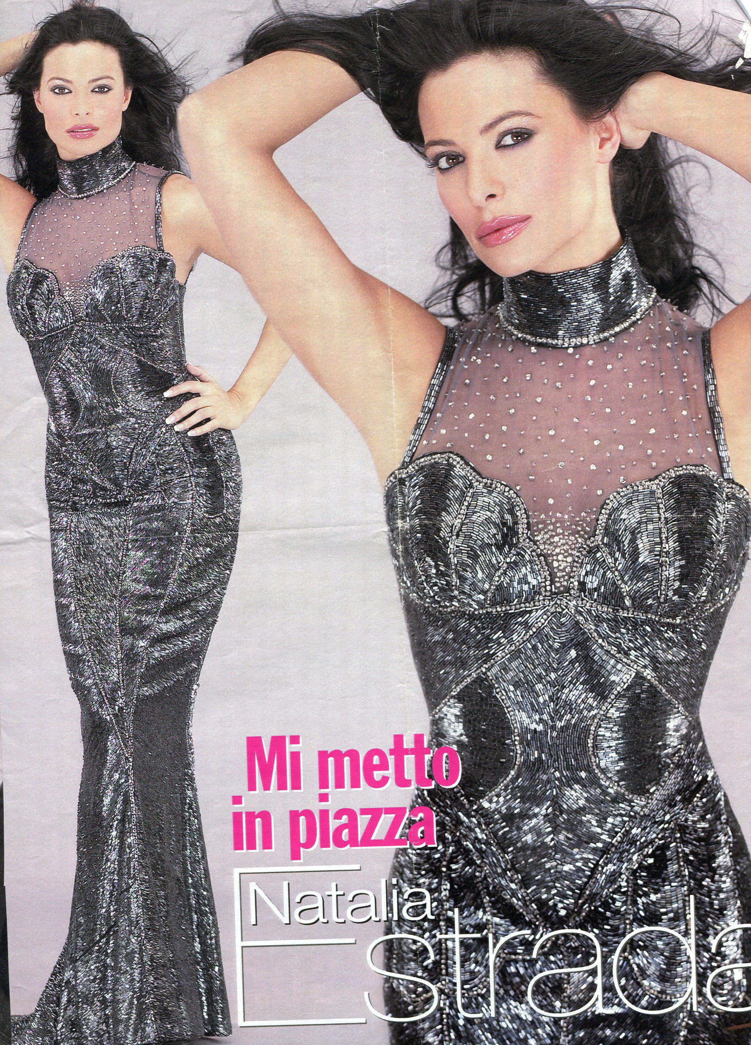 Natalia Estrada vestita da Gai Mattiolo