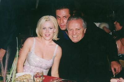 Jenny Mccarthy, Santo Versace e Gai Mattiolo