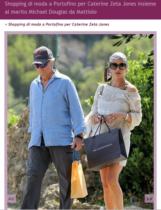 Caterine Zeta Jones shopping da Gai Mattiolo