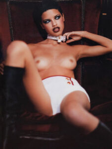 Gai Mattiolo - Adriana Lima, photo by Ellen Von Unvert
